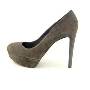 Stuart Weitzman Suede Grey Platform Heels